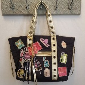 Betseyville by Betsey Johnson Travel Patch Tote